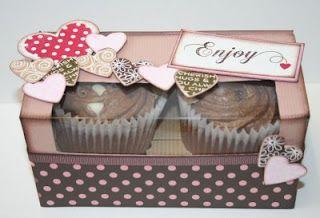 Countryheartandhome Double Cupcake Box Cupcake Boxes Template Cupcake Boxes Box Template