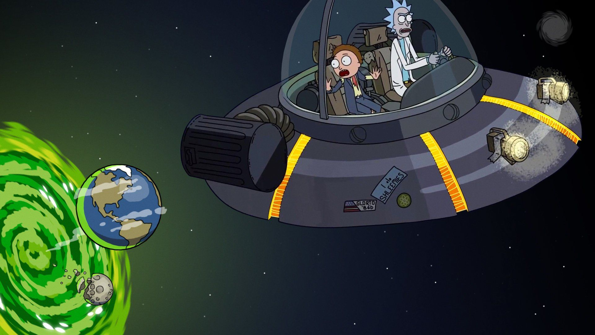 Tv Show Rick And Morty Rick Sanchez Morty Smith Spaceship