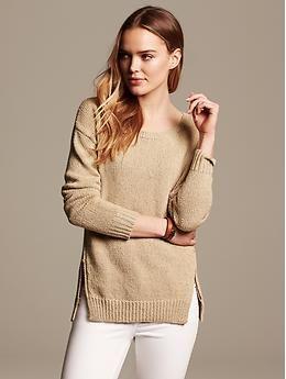 Marled Zip-Hem Boyfriend Sweater | Banana Republic | Sweaters ...