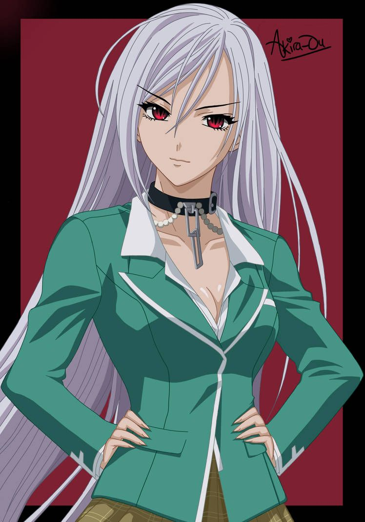 Moka Akashiya Rosario Vampire By Akira Ou Rosario Vampire Rosario Vampire Moka Rosario Vampire Anime
