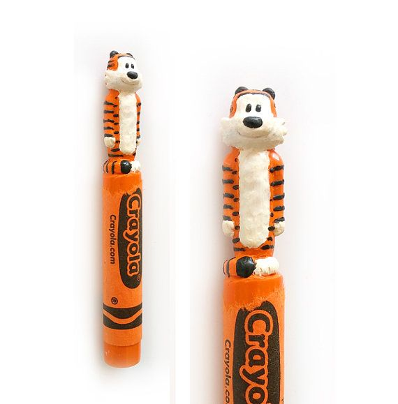 calvin and hobbes carved crayon calvin and hobbes on watchman on the wall calvin id=17338