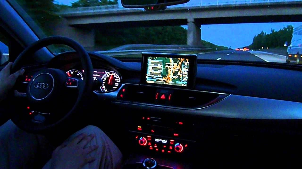 Image Result For 2012 Audi A6 Supercharged Interior At Night Cars