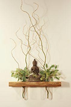 Floating shelf, altar, vases, Ming Tang, Feng Shui, side table, live ...
