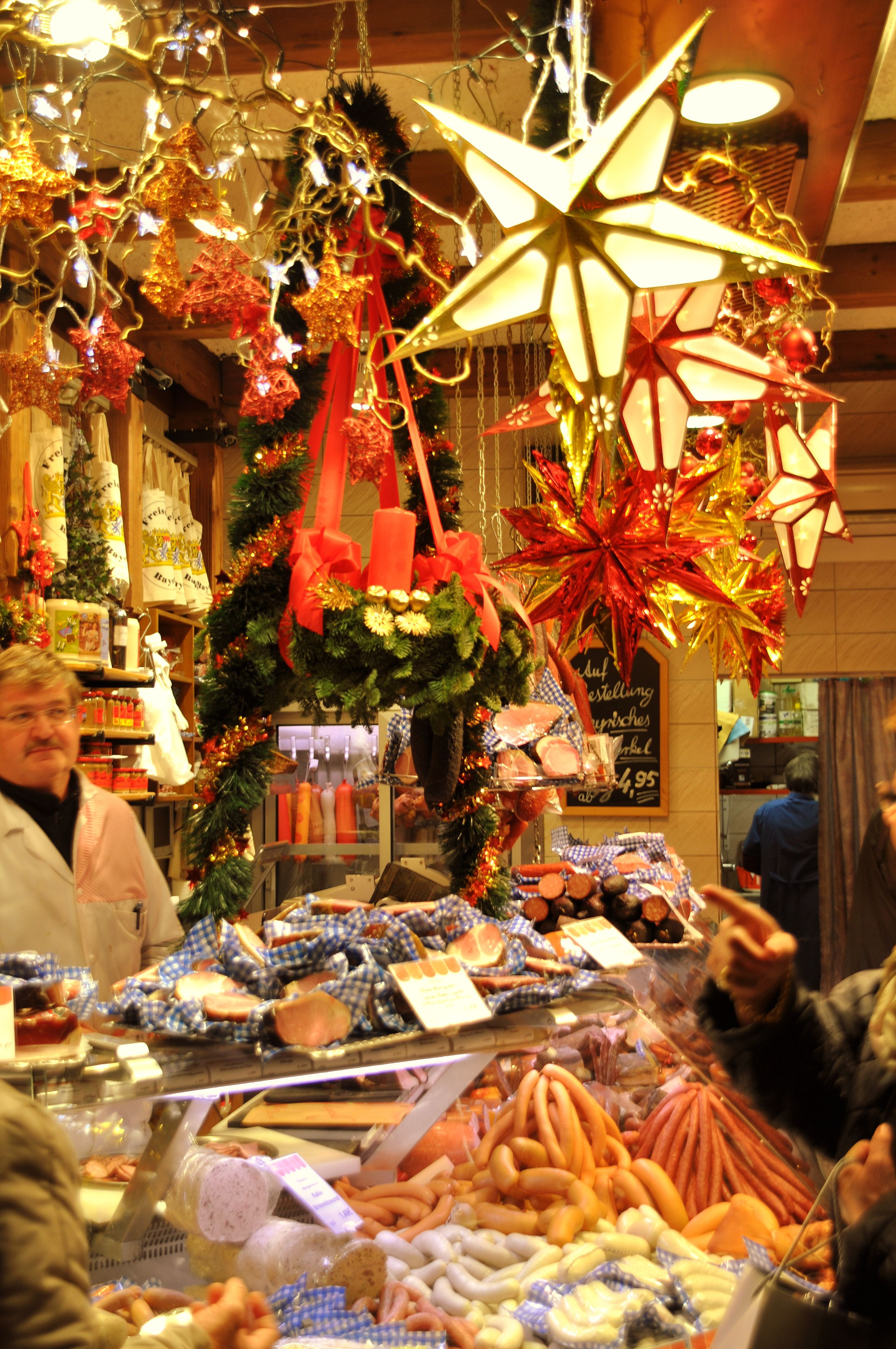A stall in a German market Romantic Christmas