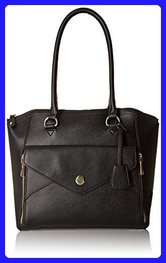 London Fog Fenwick Stye Tote Bag Black One Size Shoulder Bags