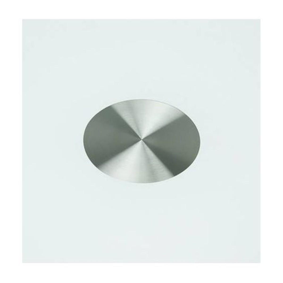 Table à manger blanche ronde design plateau en verre BLOOM ...