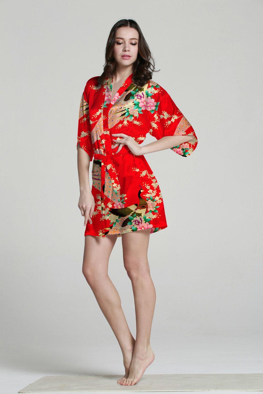 ebb3f91a5e Silk Kimono Robe Satin Japanese Kimono Bathrobe Women от MilkRobe ...