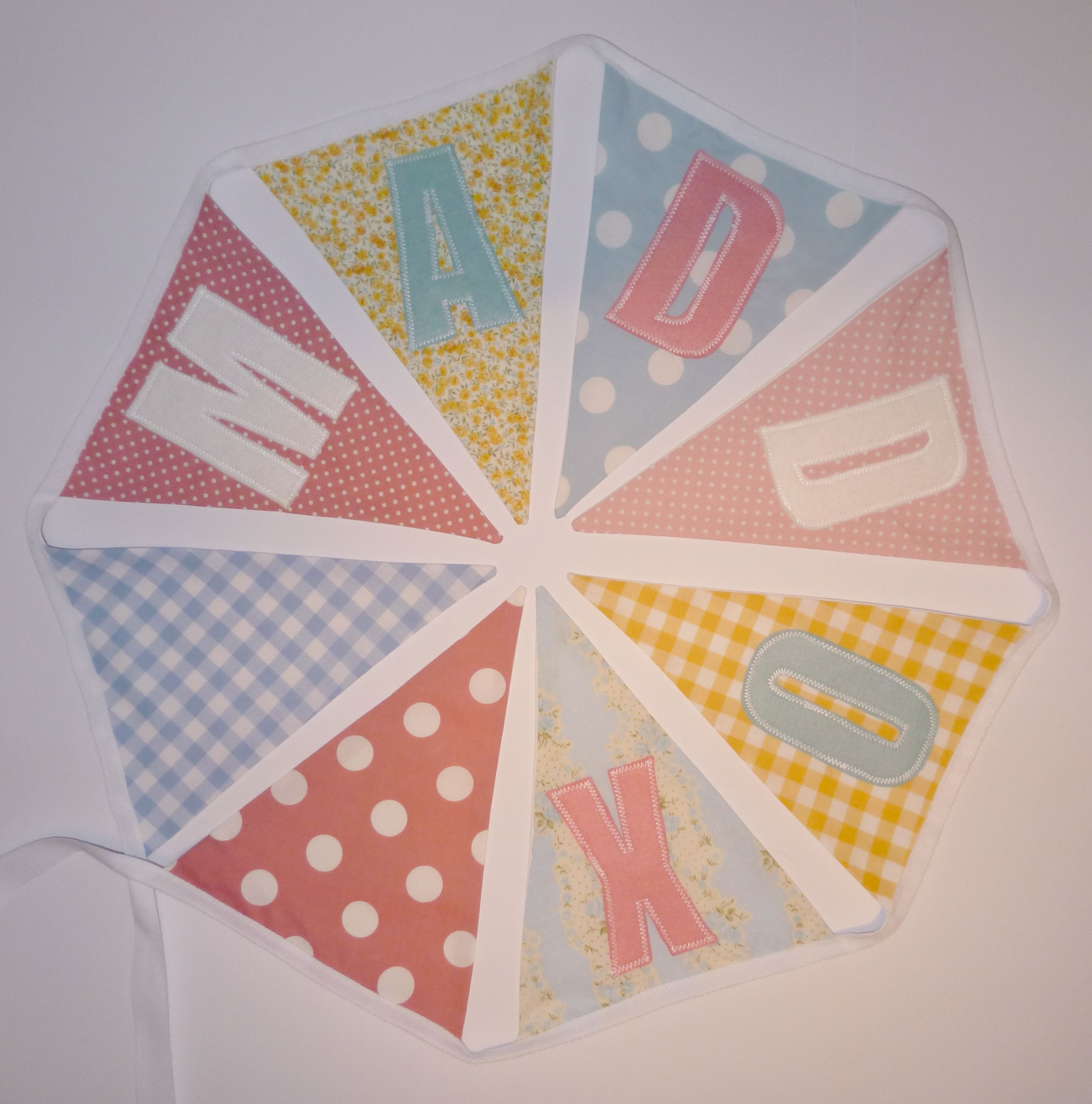 Personalised bunting for Maddox #bunting www.etsy.com/uk/shop ...