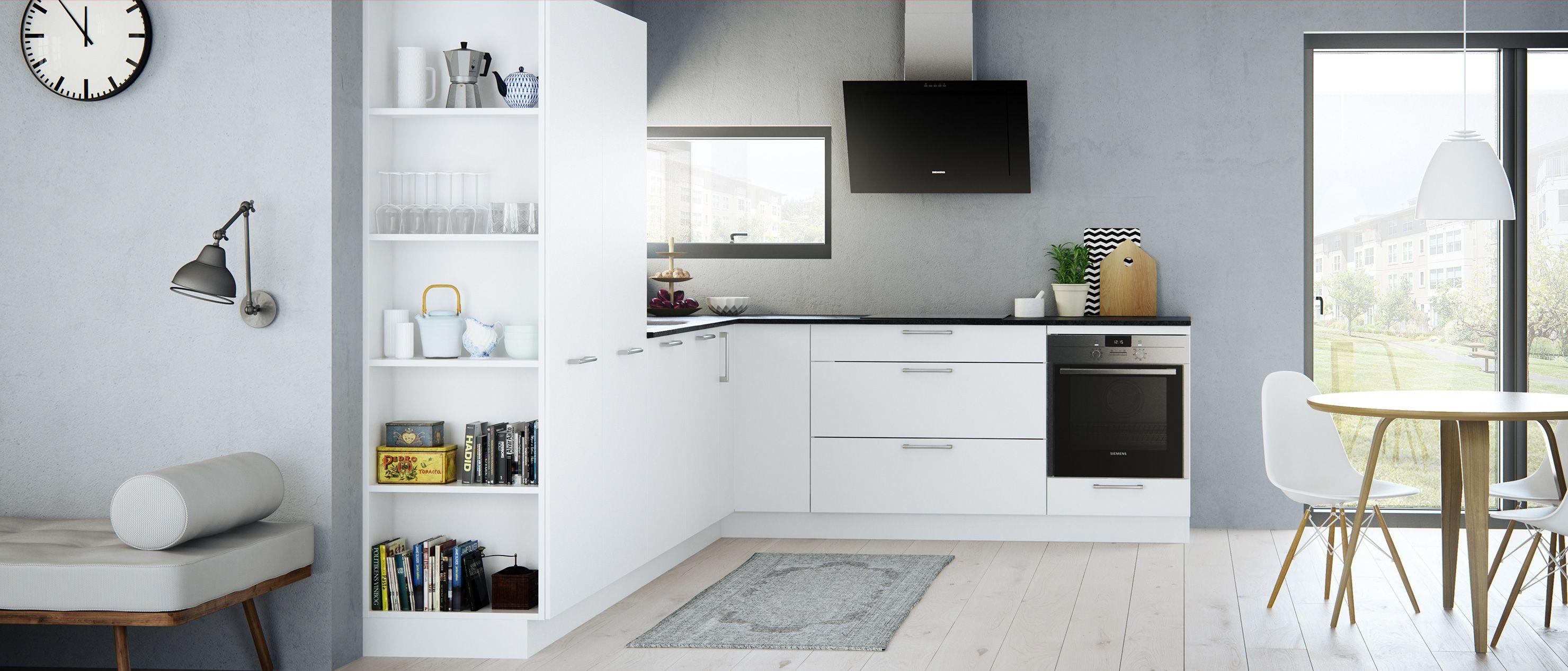 Een harmonische uitstraling tussen keuken en woonkamer kies onze milk keuken die is verzacht - Keuken open voor woonkamer ...