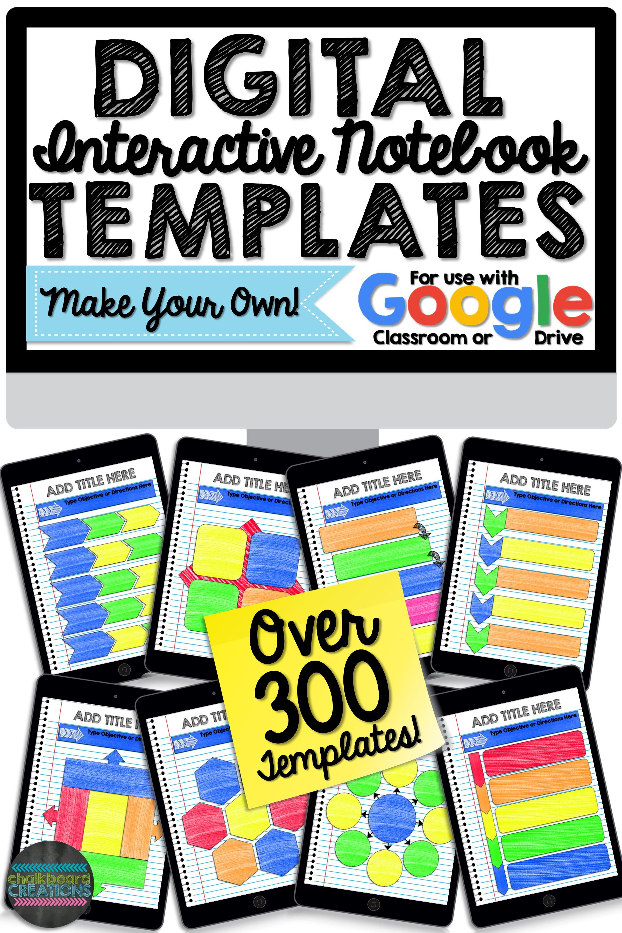 Digital Interactive Notebook & Graphic Organizer Template Bundle (GOOGLE)