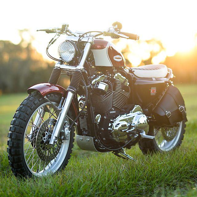Harley Davidson XL 1200 Street Tracker by Hageman Motocycles #streettracker #motos   caferacerpasion.com