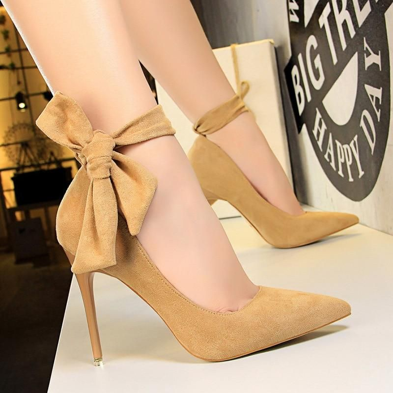 Sexy Pointed Toe Buckle Strap Butterfly High Heel