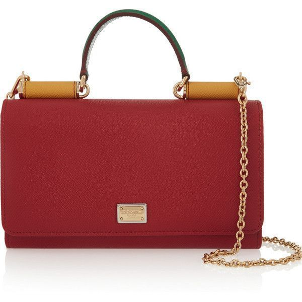 Photo of Dolce & Gabbana Lipstick textured-leather shoulder bag ($1,270) ❤ liked on Pol…
