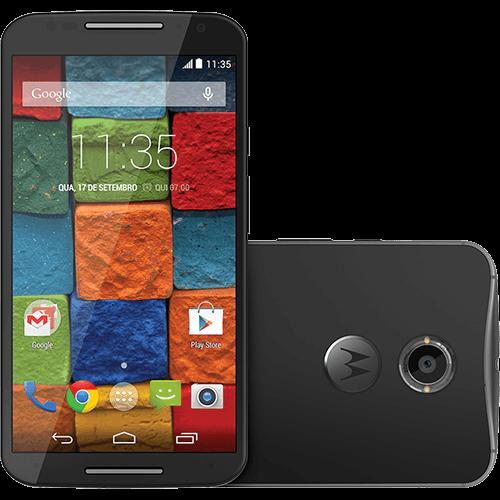 Smartphone Motorola Moto X 2ª Geração Desbloqueado Android 4.4 Tela 5.2 32GB 4G Wi-Fi Câmera 13MP GPS - Preto