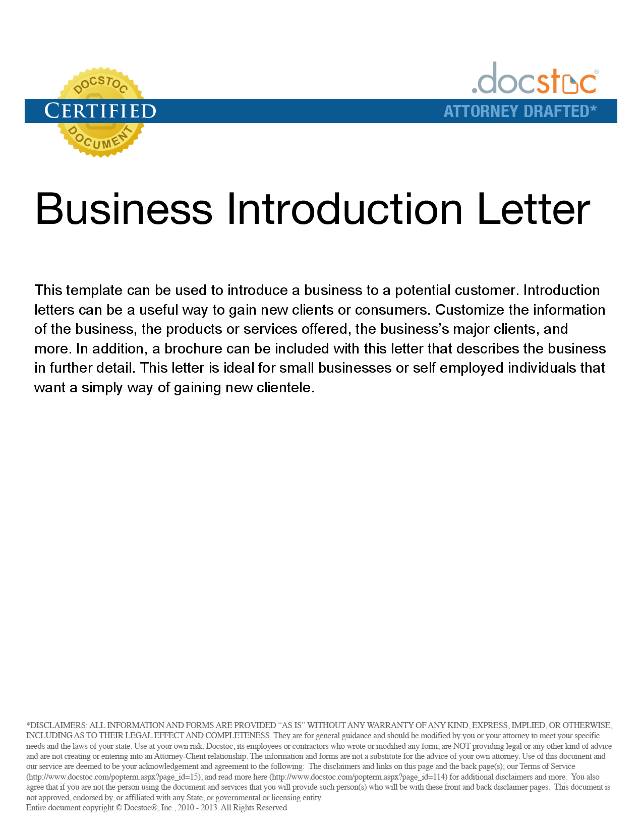 Sample Company Introduction Letter Customer Cover What Example