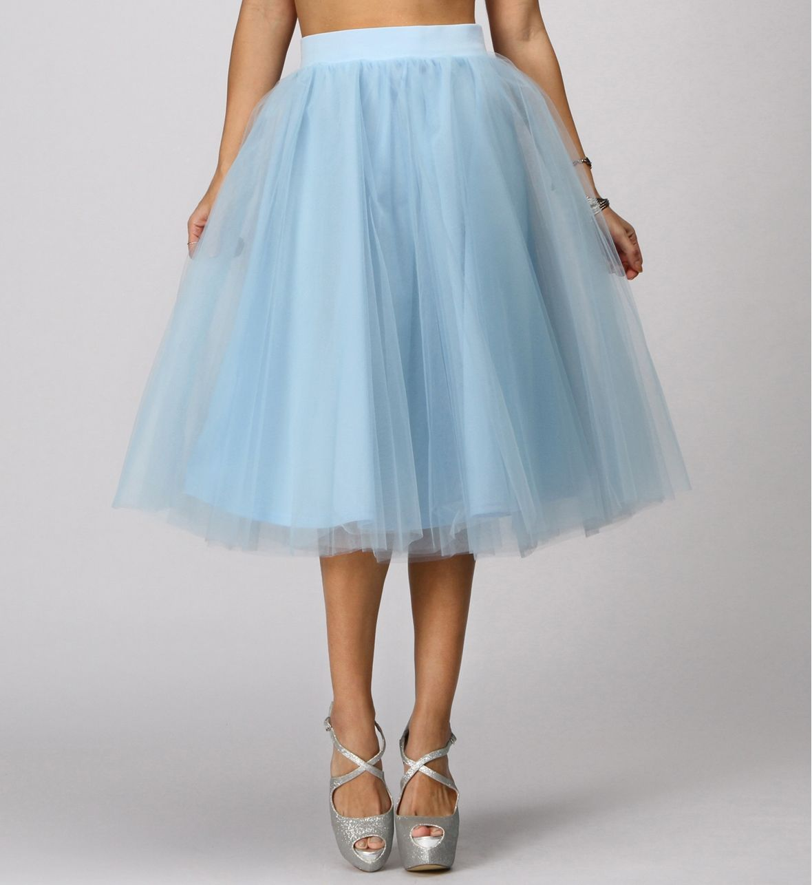 SALE- Light Blue Tulle Midi Skirt | All dressed up | Pinterest ...