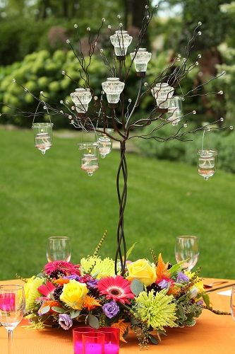 Candle Tree Wedding Centerpieces We Rent These Out Stop Into Flowers By Jerry To See If The Tree Wedding Centerpieces Reception Flowers Wedding Centerpieces