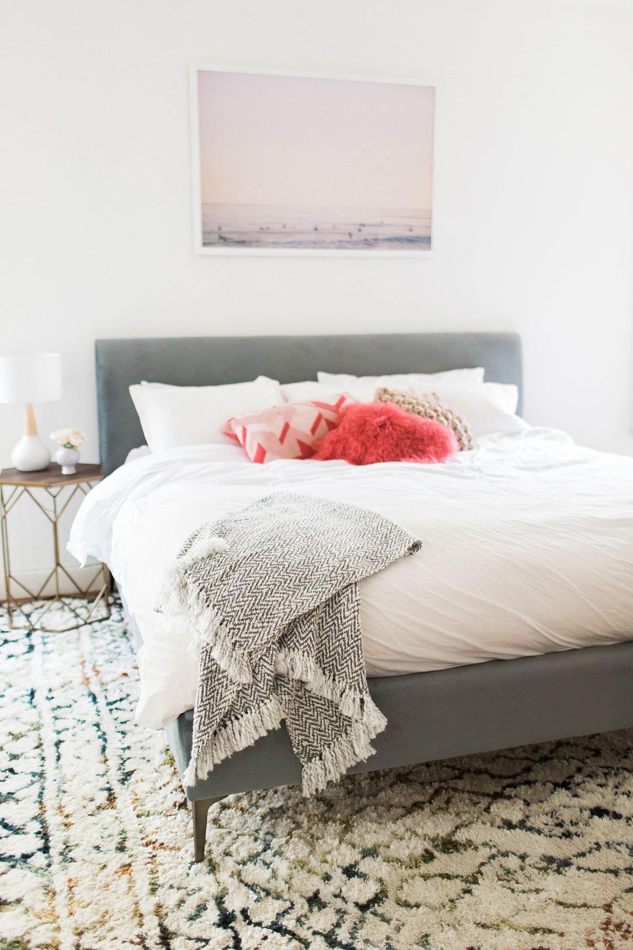 Our Beachy Boho Bedroom Home decor, Bedroom decor