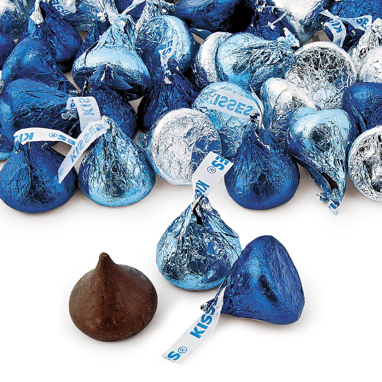 Blue & Silver Hershey Kisses Candy Buffet