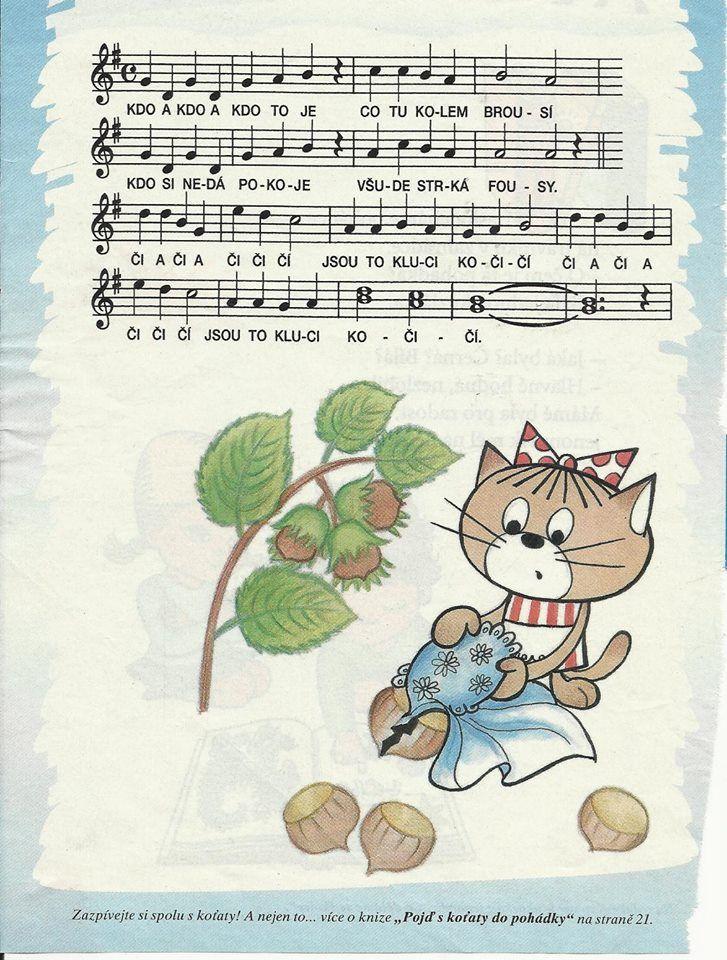 kdo a kdo to je - kočičí písnička | Písničky pro děti, noty na ...