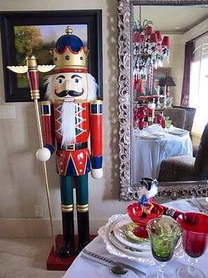 Nutcracker Doll life size in house