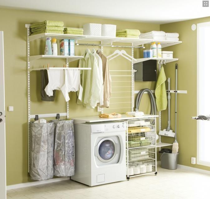 Palace Elfa Laundry Storage Solution From Howard S Storage World