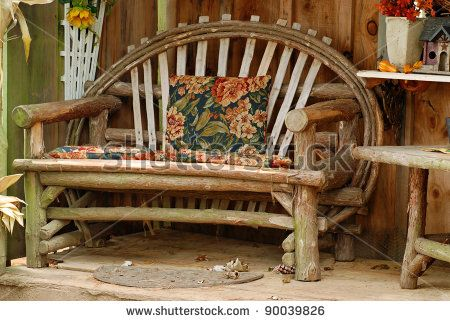 Furniture Made Of Tree Branches Old Bench Made Of Tree Branches Stock Photo  Shutterstock