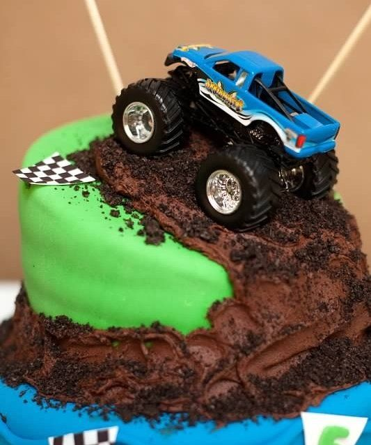 Monster Truck Cake Cakes for Boys Pinterest Truck cakes