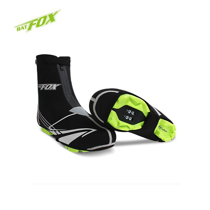 Batfox 열 사이클링 신발 커버 겨울 방수 따뜻한 자전거 덧신 mtb sbr 소재 열 자전거 덧신 새로운 도착
