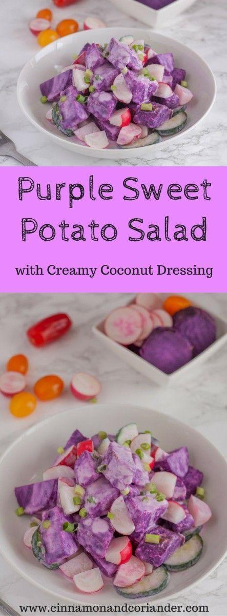 Purple Sweet Potato Ube Salad With Coconut Dressing Recipe