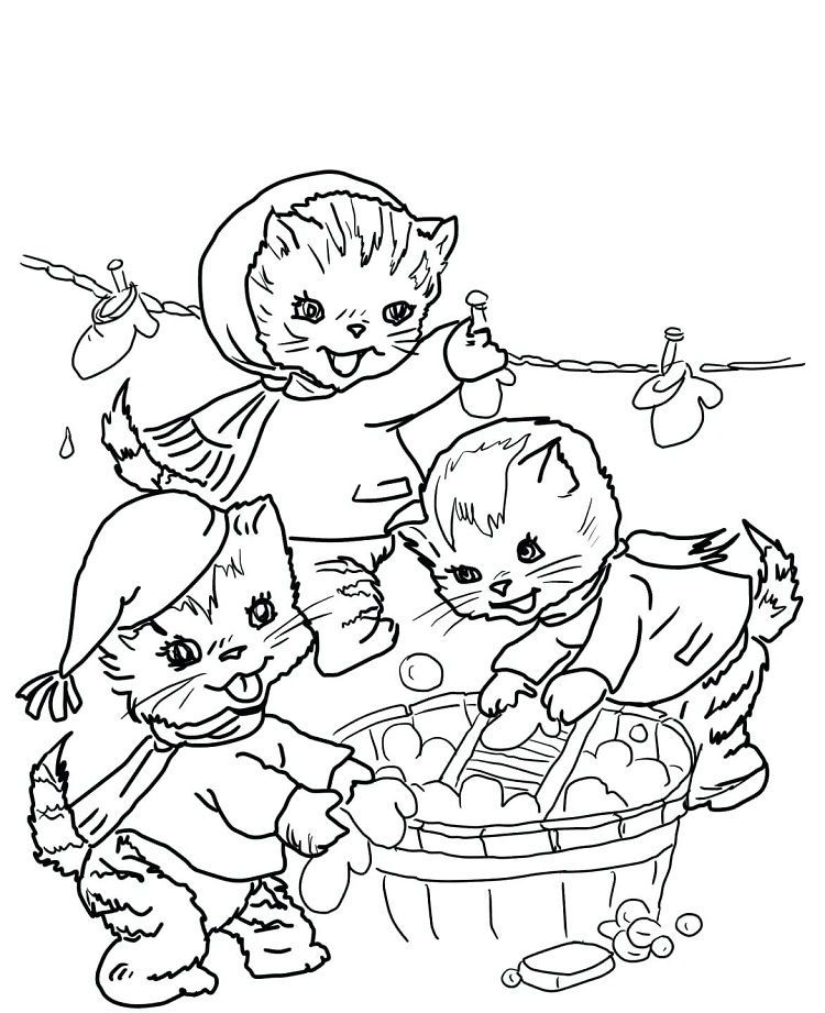 3 Little Kittens Coloring Page In 2020 Kittens Coloring Cat Coloring Page Puppy Coloring Pages