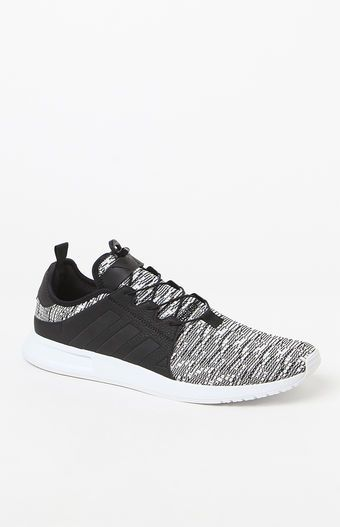 adidas X_ PLR Knit Black and White Shoes at PacSun.com