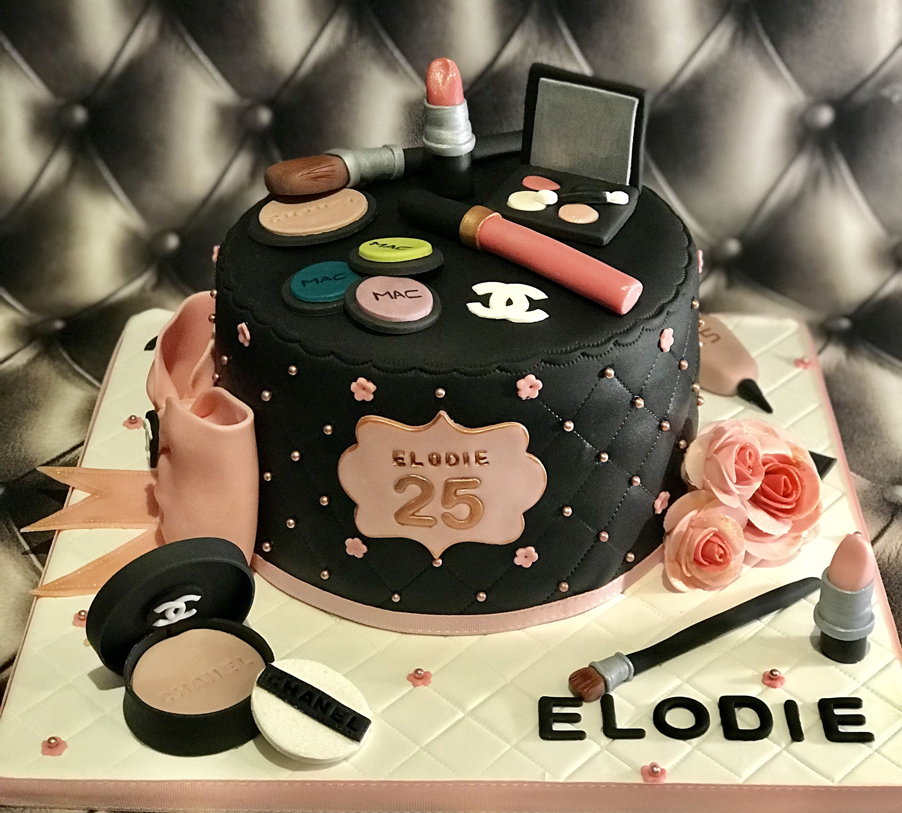 makeup box cake design 1 ans autour du maquillage  Artist cake, Cake, Desserts