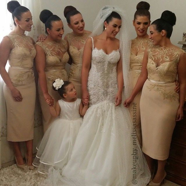 Melissa Sassine Our beautiful bridal party on Sunday Our bride Hanadi dressed by @steven_khalil Bridesmaids dressed by @veronicaalkhourycouture Flowers by @blooms_by_elle Hair by @aehair #love #weddings #bridalmakeup #melissasassine