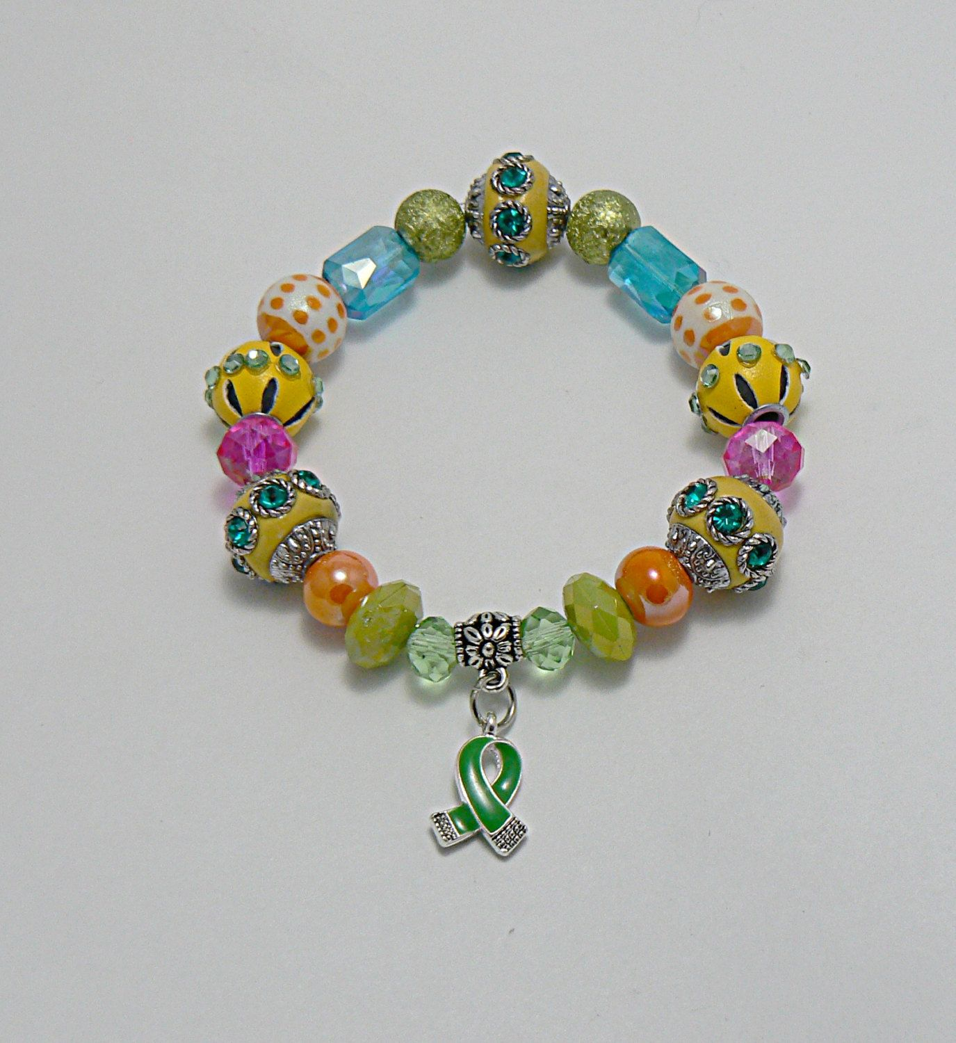 awareness alexa bracelet brave always green support an gold cancer moreinfo s angels dark