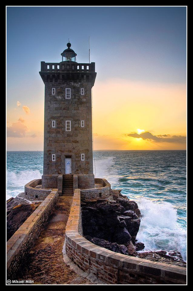 Le Conquet Phare De Kermorvan Finist 232 Re Bretagne France