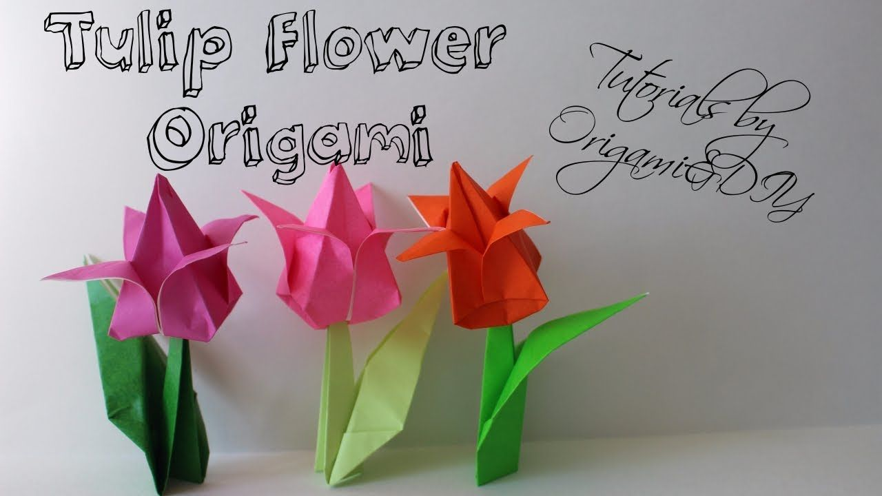 Origami Tulip Flower Easy And Fast Tutorial For Beginners
