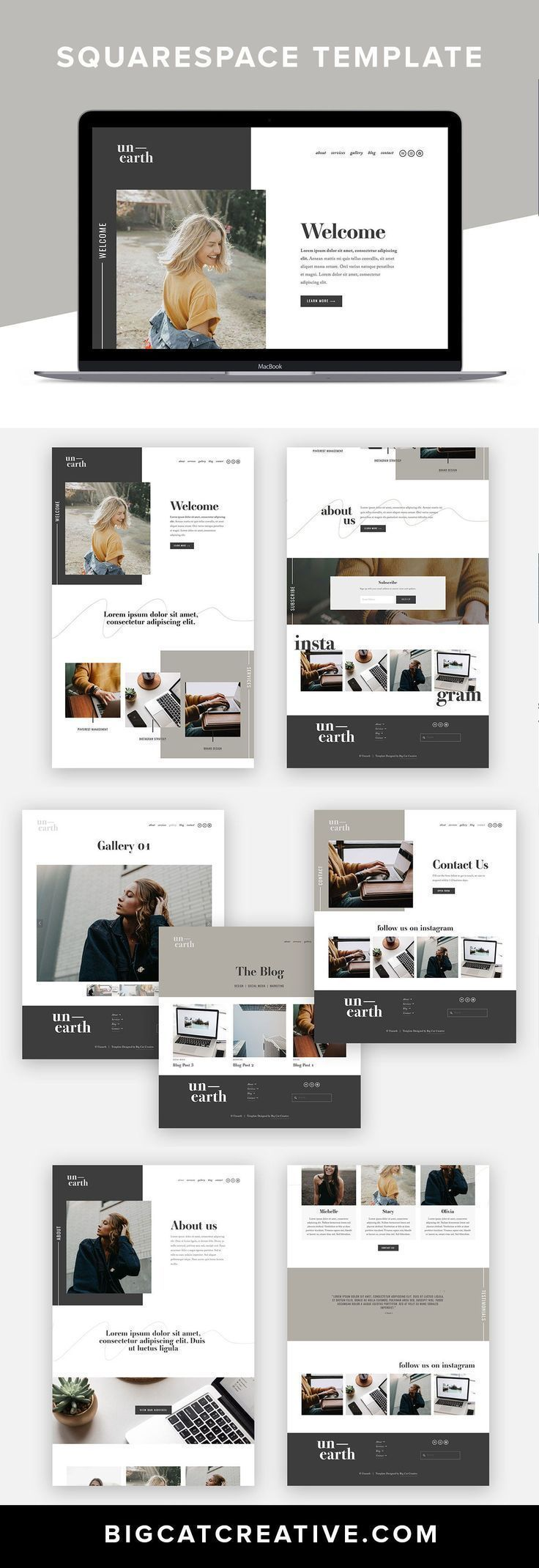 Wordpress Minimal Theme Website Templates From Themeforest Wordpress Minimal Theme In 2020 Website Design Wordpress Squarespace Website Design Wordpress Web Design