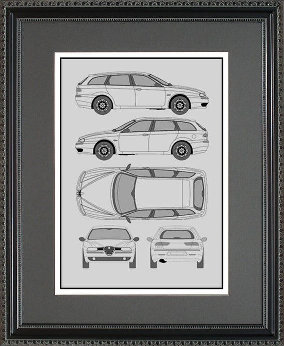 Alfa Romeo Blueprint Framed Art Car Auto Gift - Choose Your Model - Balfa Alfa Romeo Blueprint Framed Art Car Auto Gift - Choose Your Model - BALFA Black Things nissan x trail black color