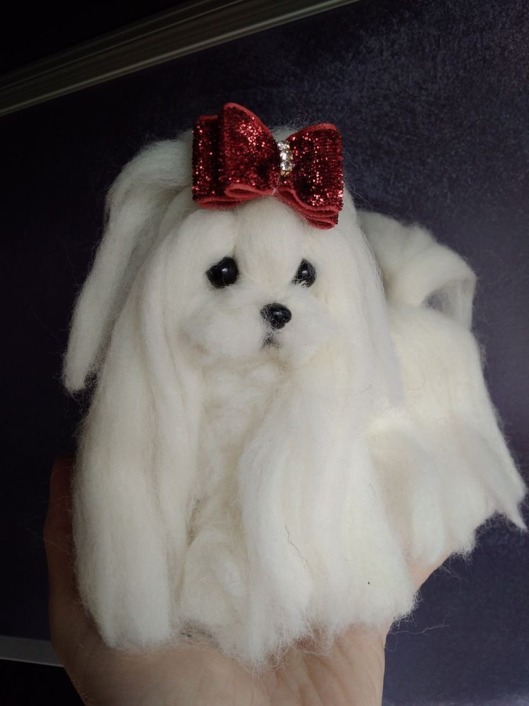This Needle Felted Puppy Can Flex And Move Much Like A Real Dog