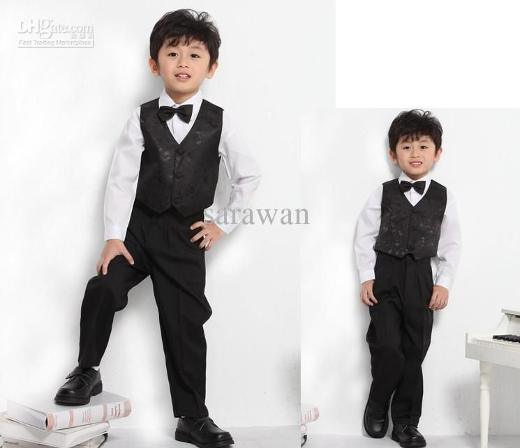 Custom made boy tuxedos,black boy suit,wedding boy swallow-tailed ...