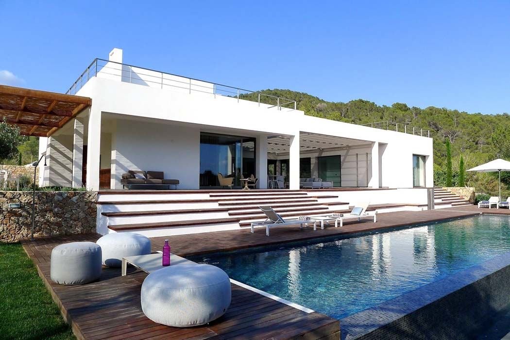 Magnifique villa de r ve l architecture contemporaine sur l le d ibiza villa de luxe for Villa de reve