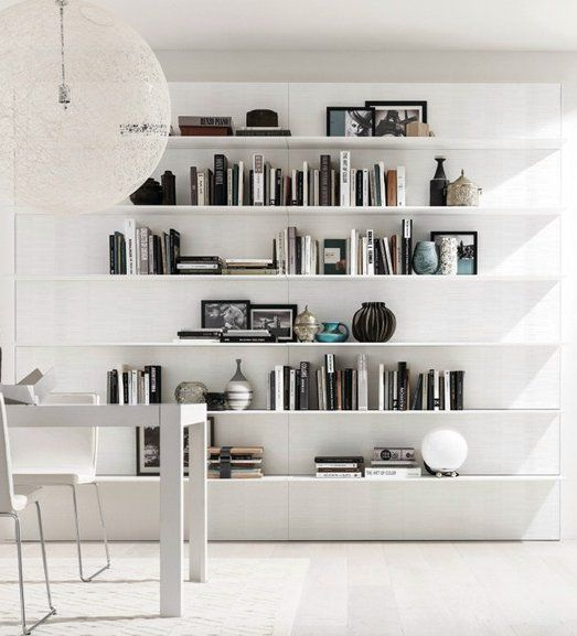 Sectional Wall Mounted Wooden Storage Wall Horizon E45 By Dimitrios Chatzichristos Euromobil Interiors Minimal Wall House Interior Home Interior Spaces