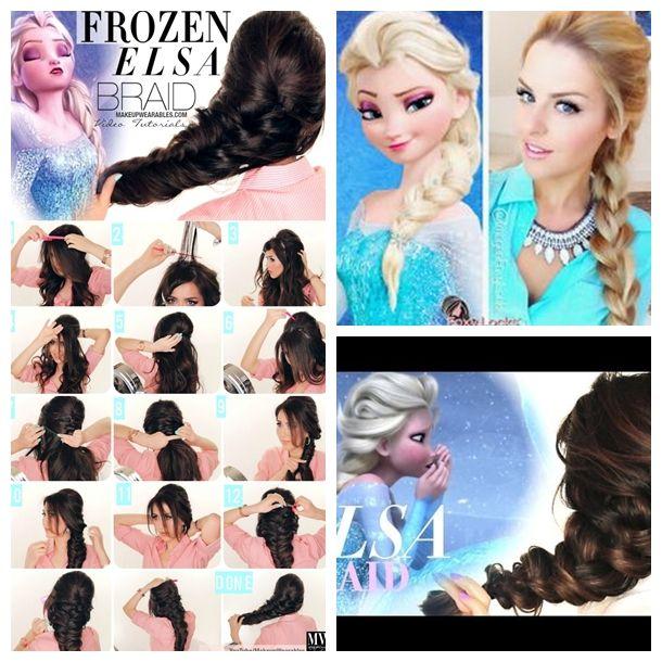 Disney Hairstyles tinker bell hairstyle tutorial a cutegirlshairstyles disney exclusive Wonderful Diy Disney Frozen Elsas Hairstyle Elsa Braid Braid Hairstyles And Hair Dos