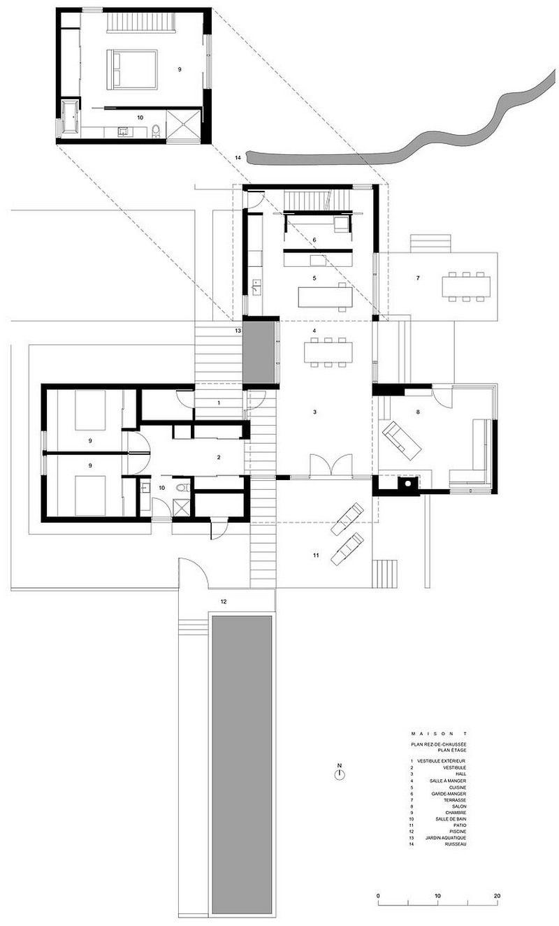 Anschluss an die Moderne: Modernes Haus verfügt über miteinander ...