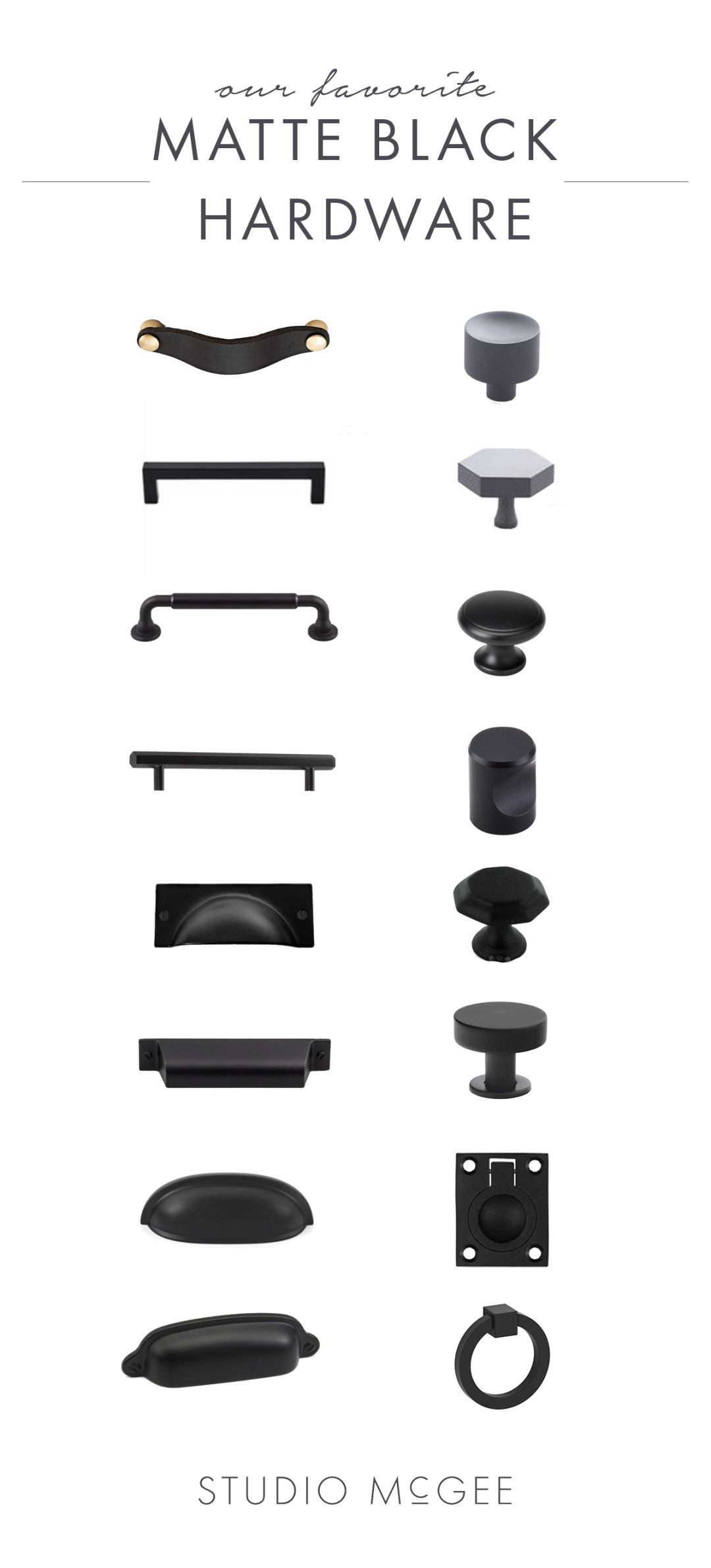 Matte Black Hardware Round Up Cabinet