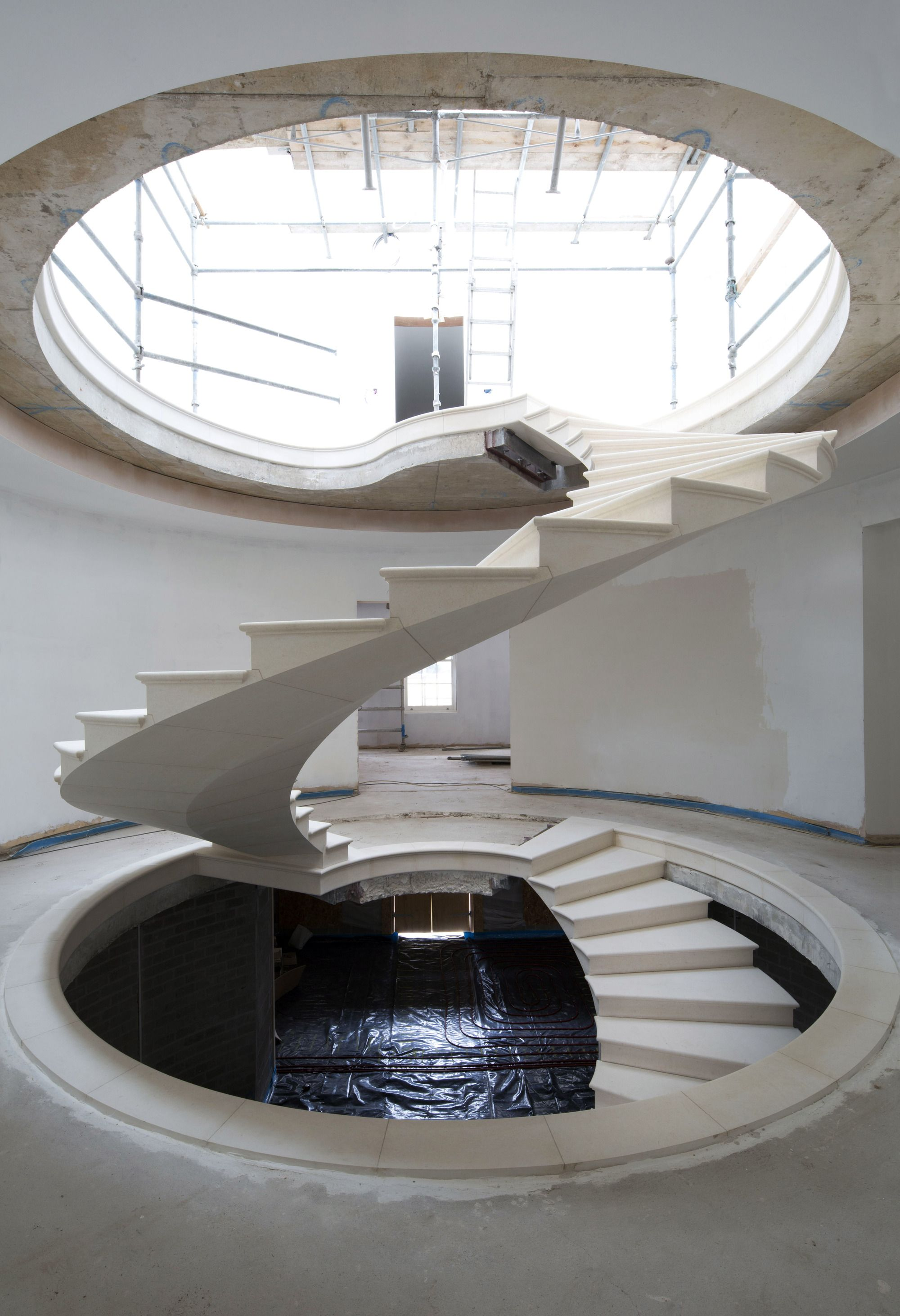 Gallery of See The Engineering Behind This Floating, AwardWinning Stone Helical Stair  14 is part of architecture Wood Construction Spaces - Image 14 of 17 from gallery of See The Engineering Behind This Floating, AwardWinning Stone Helical Stair  Photograph by Agnese Sanvito