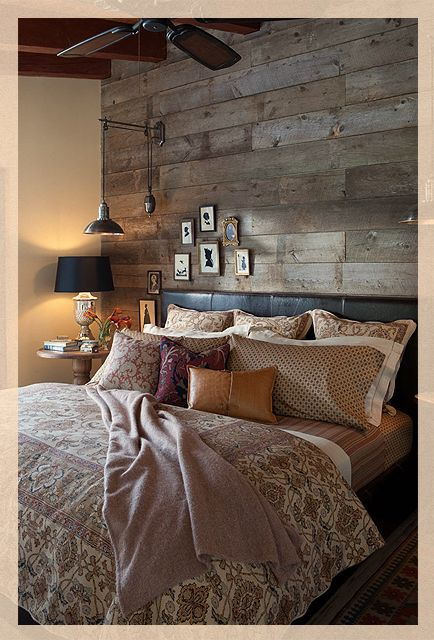 Salvaged Wood From The Property Becomes Wall Paneling