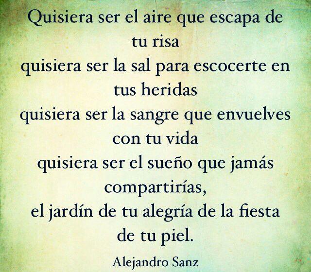 Alejandro Sanz Letras De Canciones Frases Alejandro Sanz Y