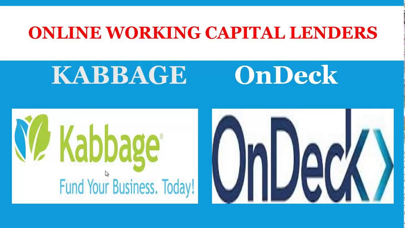 Get using kabbage and ondeck